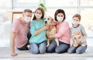 cani e mascherine in tempi di COVID